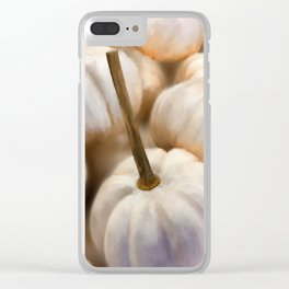 Ghost Pumpkins Clear iPhone Case