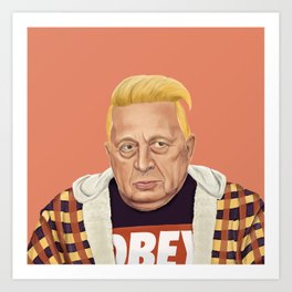 The Israeli Hipster leaders - Ariel Sharon Art Print