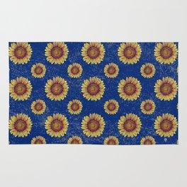Swirly Sunflower Rug
