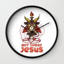 Not Today Jesus T-Shirt Anime Kawaii Baphomet Wall Clock