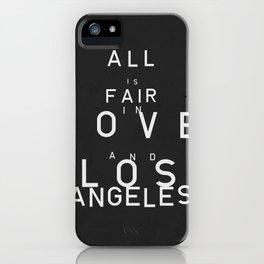 ALL IS FAIR II iPhone Case