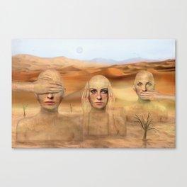 Desert status Canvas Print