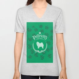 St. Patrick's Day Chow Chow Funny Gifts for Dog Lovers Unisex V-Neck