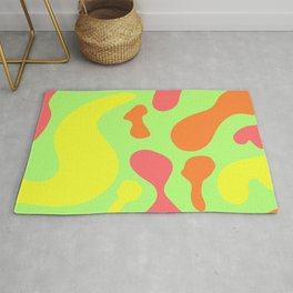 bright sunny abstract pattern decor design Rug