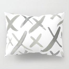 Watercolor X's - Grey Gray Pillow Sham