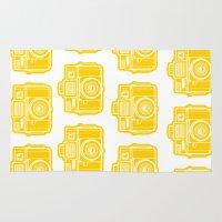 I Still Shoot Film Holga Logo - Sunshine Yellow Rug