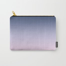 Blue Lilac Millennial Pink Ombre Gradient Pattern Carry-All Pouch