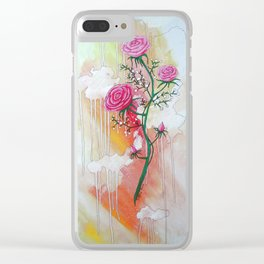 A Sigh of Pink Clear iPhone Case