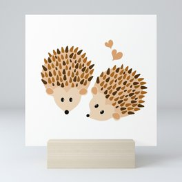 Hedgehogs Mini Art Print