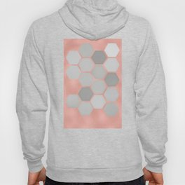 Honeycomb on Rose Gold Hoody