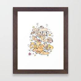 Wild family series - Capybara Framed Art Print