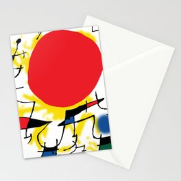 Art inspired by J. Mirò (n.3) Stationery Cards