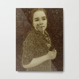 Portrait Of My Daughter Rosa Metal Print