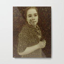 Portrait Of My Daughter Rosa Metal Print