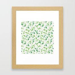 Tea leaves pattern Abstract Framed Art Print