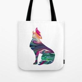 swirly wolf Tote Bag