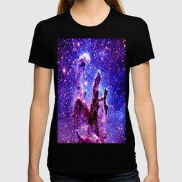 Galaxy Nebula : Pillars of Creation Purple Blue T-shirt