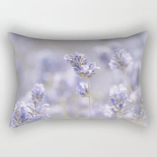 Lavenderfield - Lavender Summer Flower Flowers Floral on #Society6 Rectangular Pillow