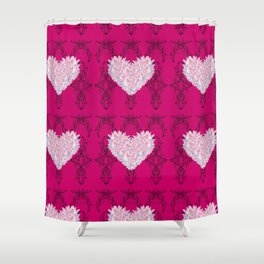 Lotus Harts Shower Curtain