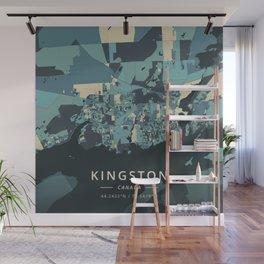 Kingston, Canada - Cream Blue Wall Mural