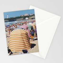 Biarritz Beach Tents Stationery Cards