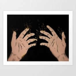 Fade to gold Art Print