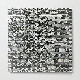 Variance Police (P/D3 Glitch Collage Studies) Metal Print