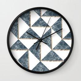Into The Ocean Gold Foil Geometric Pattern #3 Wall Clock