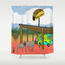 Flock of Gerrys Gerry Loves Tacos Octo's Taco's Busy Day Shower Curtain