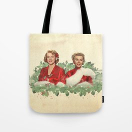 Sisters - A Merry White Christmas Tote Bag