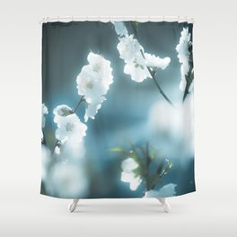 Snowy Blossoms Shower Curtain