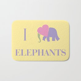 I Heart Elephants Bath Mat