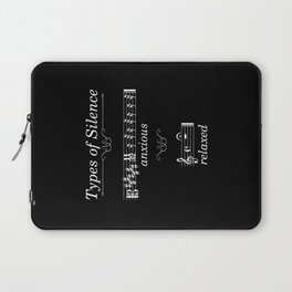 Types of silence (dark colors) Laptop Sleeve
