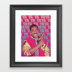 Beverly Hills Cop + music theme Framed Art Print