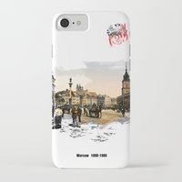 poland iPhone & iPod Cases featuring Poland, Warsaw 1890-1900 by viva la revolucion
