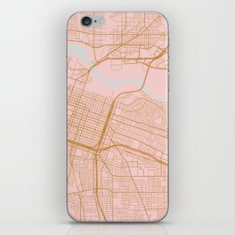 Sacramento map, California iPhone Skin