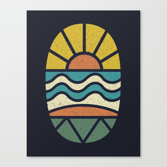 Lets Go Surfing Canvas Print