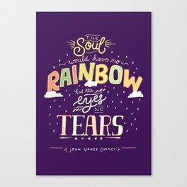 Rainbow and Tears Canvas Print