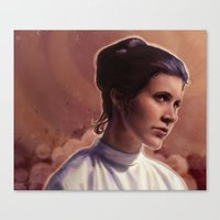 leia Canvas Prints featuring Leia by Jackie Sullivan