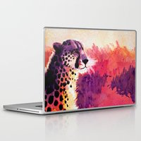 cheetah Laptop & iPad Skins featuring Cheetah by Fallen Apple Designs