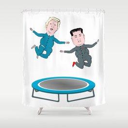 Trump and Kim Jong Un Shower Curtain