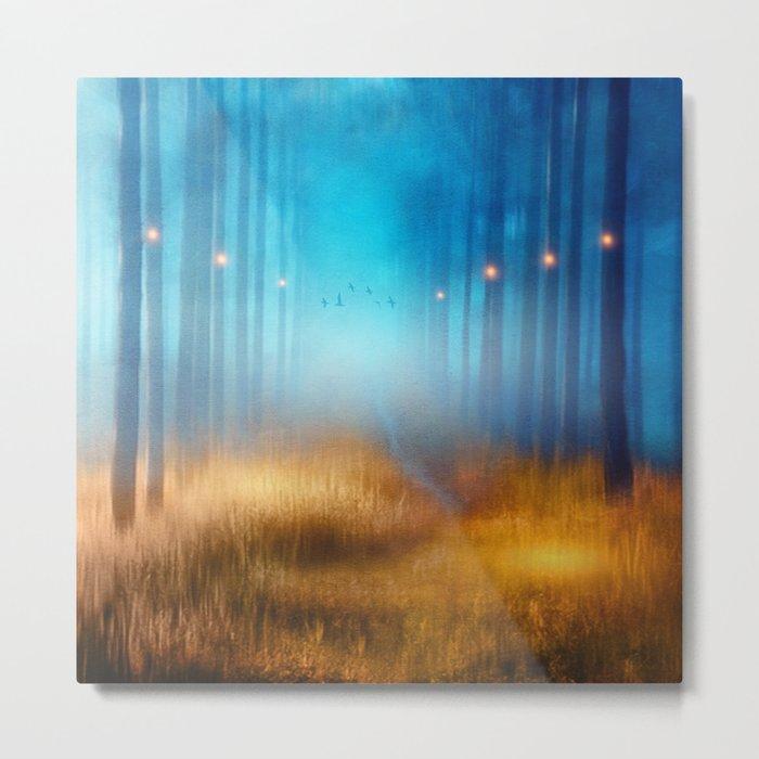 Blue melody.. Metal Print