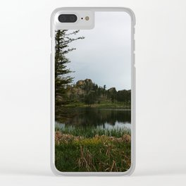 Moody Evening  At Sylvan Lake Clear iPhone Case