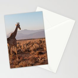 Giraffe admiring the savannah in South Africa Stationery Cards