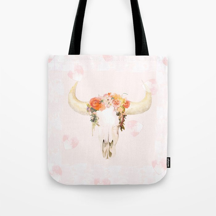 Romantic Boho Buffalo Tote Bag