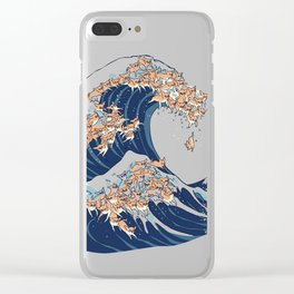 The Great Wave of Chihuahua Clear iPhone Case