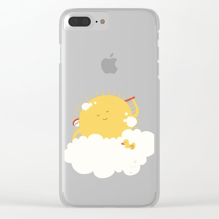 sun-bathing Clear iPhone Case