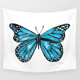 Blue Morpho Butterfly Wall Tapestry