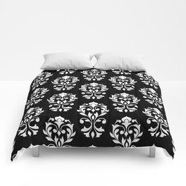 Heart Damask Pattern II WB Comforters