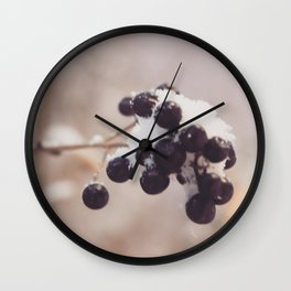 A misty winter morning Wall Clock